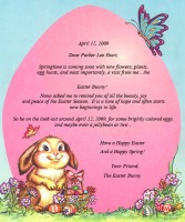 Personalized Easter Letter